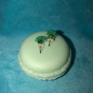 Jewelry - Cutesy Froggie Polymer Earrings in Macaron Case